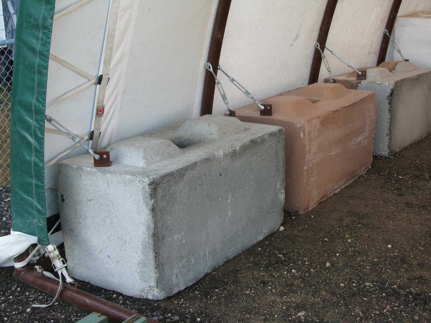 Portable Anchor On A Concrete Garage : Foundation options portable garage and engineered truss