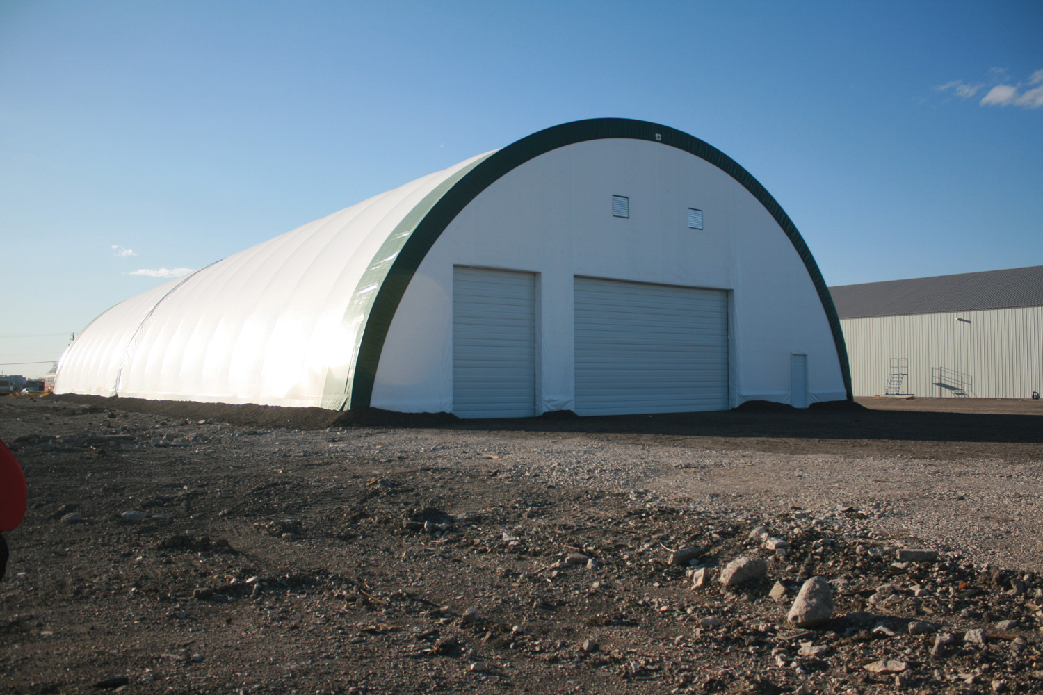 Portable Building Doors : Portable farm equipment storage buildings