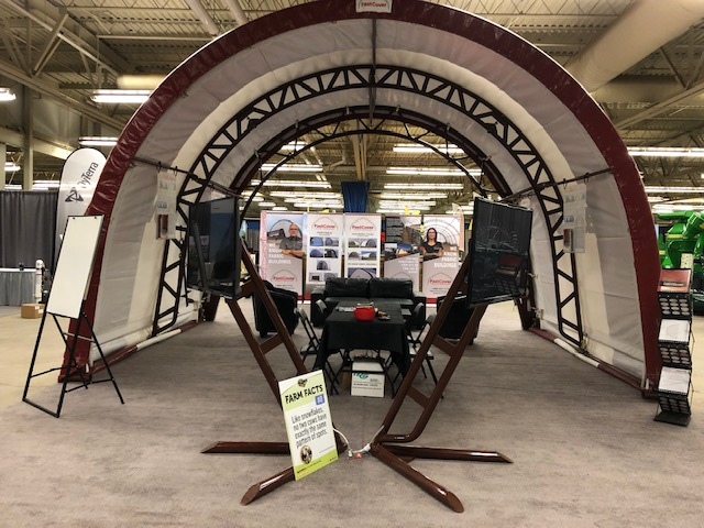 FastCover Displays 20' x 15' Fabric Building at Manitoba Ag Days